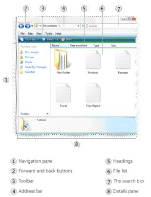 Windows Vista File Folder Diagram